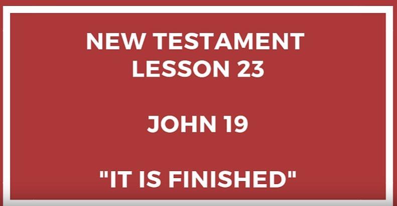 Come Follow Me - John 19 - Gospel Doctrine